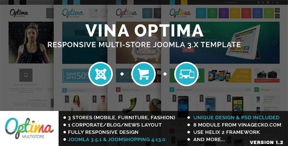 Vina Optima :: Multi-Store Joomla 3.x Template - Shopping Retail