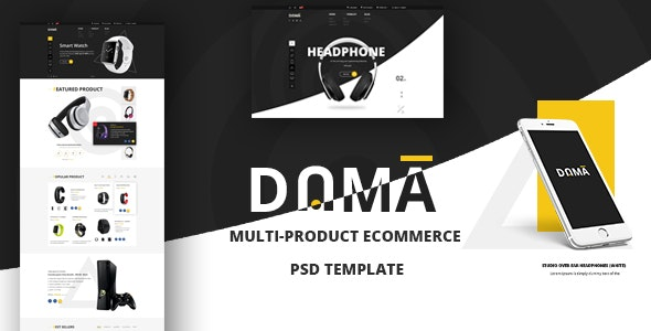 DAMA – Modern PSD Template for Multi-product eCommerce Webshop - Retail Photoshop