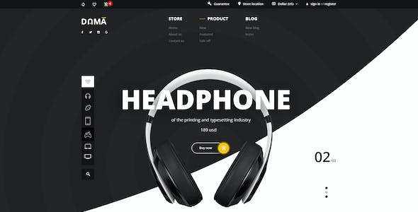 DAMA – Modern PSD Template for Multi-product eCommerce Webshop