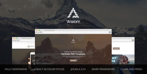 Waxom — Clean and Universal Responsive Joomla Template  - Creative Joomla