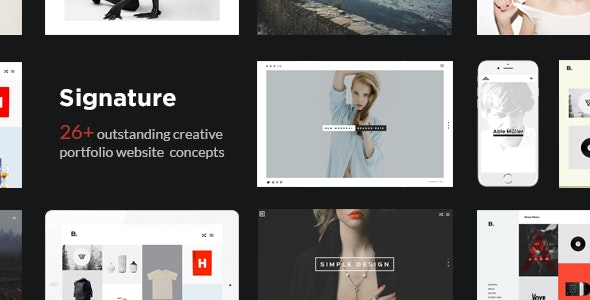Signature - Multi-Purpose / Many Concept Creative Portfolio WordPress Theme - Portfolio Creative