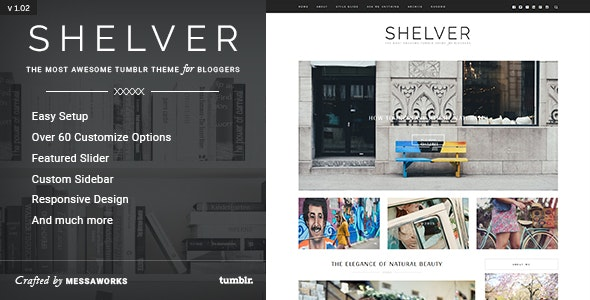 Shelver - Responsive Blog Tumblr Theme - Blog Tumblr