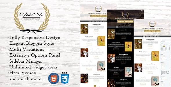 Ramadan - Dynamic WordPress Theme