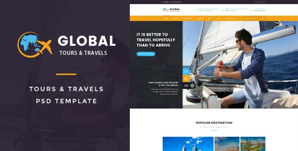 Global : Tours & Travels PSD Template - Travel Retail