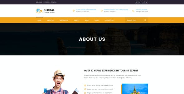 Global : Tours & Travels PSD Template