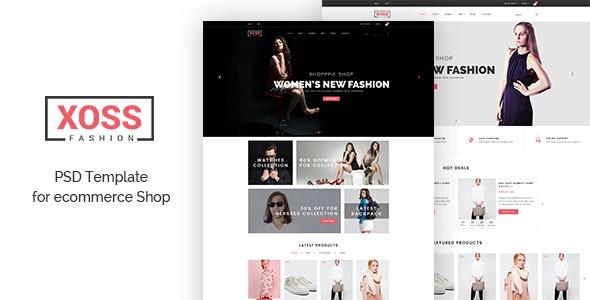XOSS - eCommerce psd Template - Fashion Retail