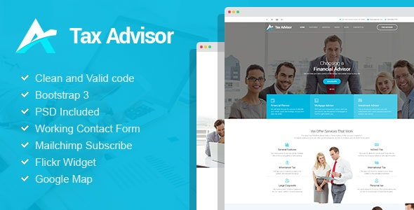 Tax Advisor - Financial Consulting & Attorney HTML Template - Business Corporate