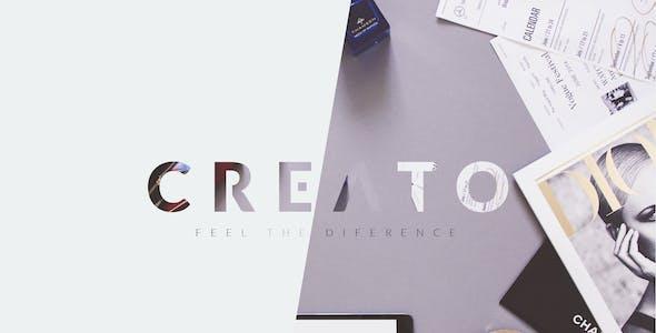 Creato - Parallax Scrolling Template