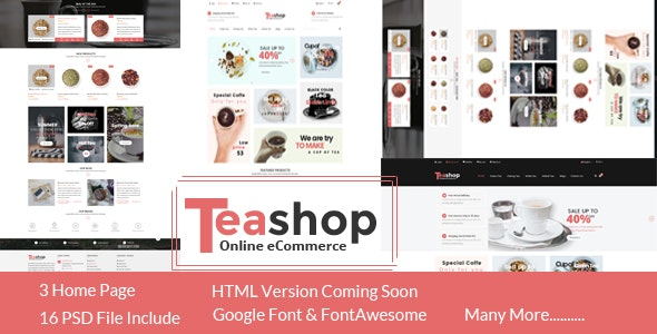 TeaShop - eCommerce PSD Template - Shopping Retail
