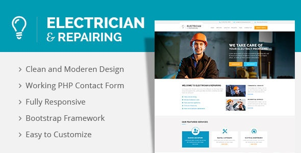 Electrician & Repairing HTML Template - Business Corporate