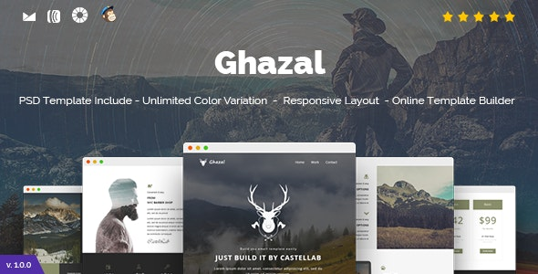 Ghazal - Responsive Email and Newsletter Template - Newsletters Email Templates