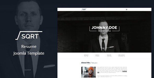 Joomla Resume Template - Squareroot - Miscellaneous Joomla