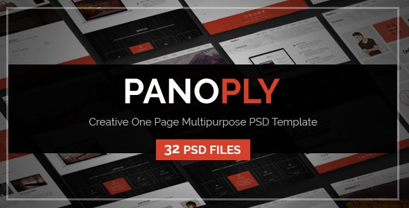 Panoply - Creative One Page Multipurpose PSD Template - PSD Templates