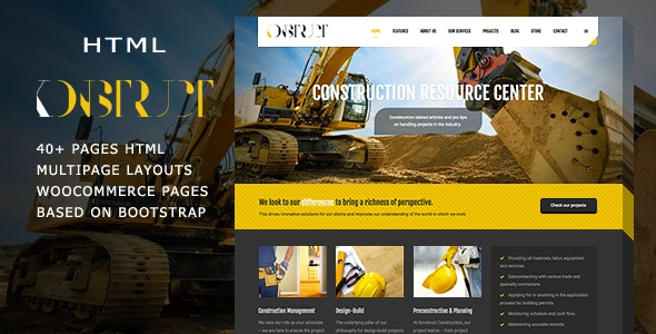 Konstruct - Html Construction, Building And Business template - Business Corporate
