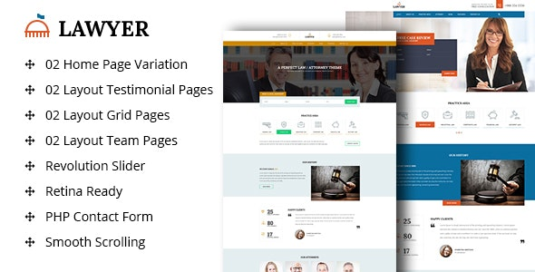 A Lawyer - Lawyers Html Template - Business Corporate