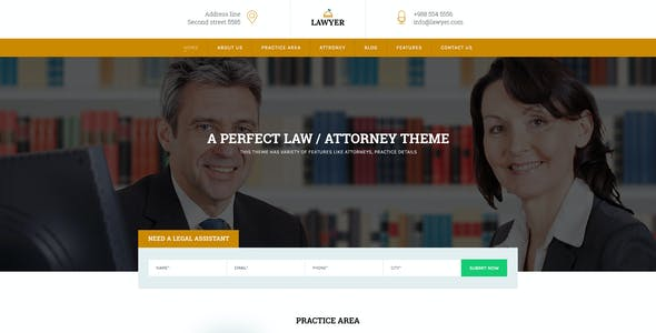 A Lawyer - Lawyers Html Template