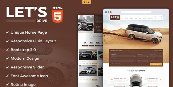 Let's Drive - Amazing Car Rental & Sale HTML5 Template