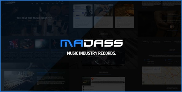 Madass - Music Industry HTML Template - Music and Bands Entertainment