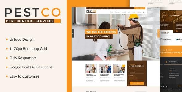 Pestco - Pest Control Template - Business Corporate