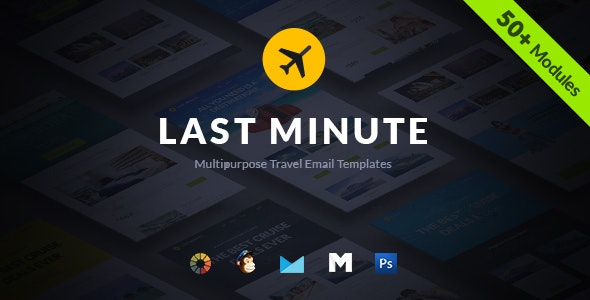 Last Minute Multipurpose Hotel/Travel E-Newsletter + Builder Access - Email Templates Marketing
