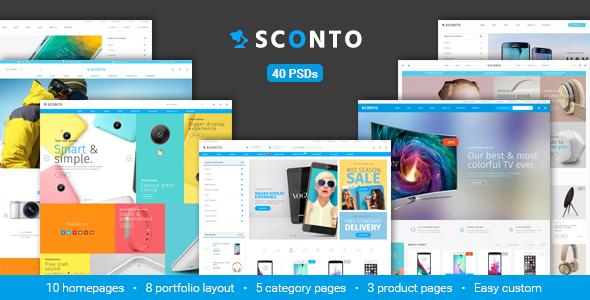 Sconto - Responsive eCommerce PSD Template - Retail PSD Templates