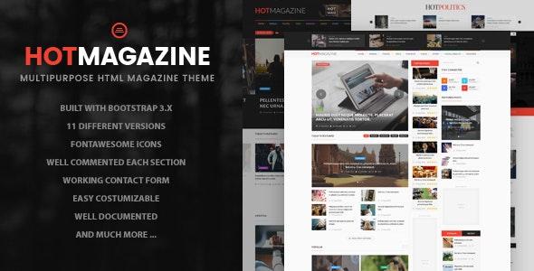 Hotmagazine - News & Magazine HTML Template - Entertainment Site Templates