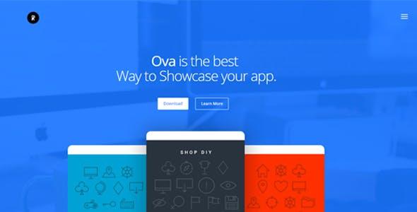 Ova - App Landing Page