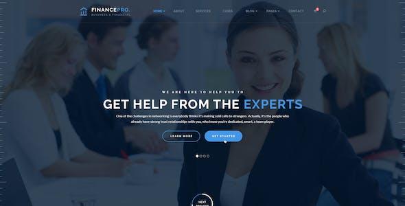 Business PSD Template - FinancePro