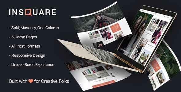 Life Style Blog WordPress Theme - Insquare