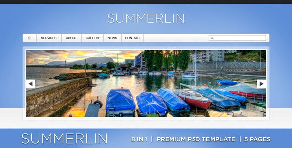 Summerlin - 8 in 1 - Premium PSD Template - Portfolio Creative