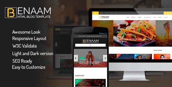 Benaam  Modern Blog / Megazine / News / Video Template