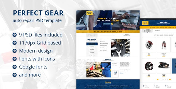 Perfect Gear - Car Repair - Business Corporate