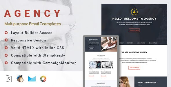 Agency-Multipurpose Email Template with Stampready builder