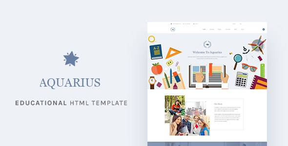 Aquarius - Educational University HTML Template - Business Corporate