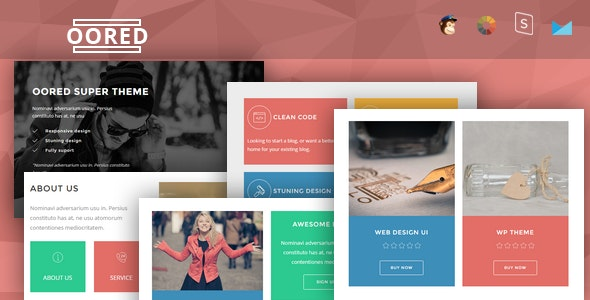 Oored - Multipurpose Responsive Email + StampReady Builder - Newsletters Email Templates