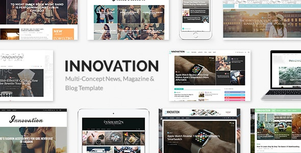 INNOVATION: Multi-Concept News, Magazine & Blog Theme - Personal Blog / Magazine