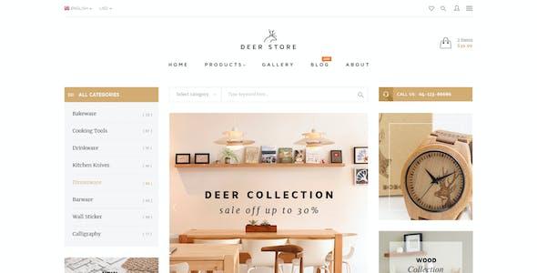DeerStore - Ecommerce PSD Template