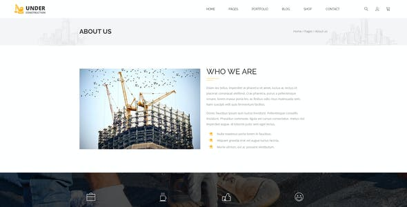 Under Construction -  Building And Business  PSD Template