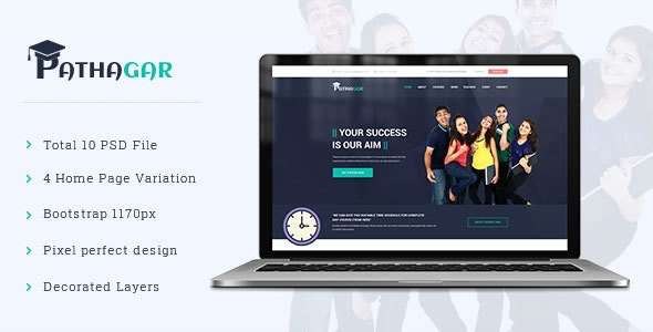 Pathagar - Learning Management PSD Template - Events Entertainment