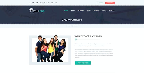 Pathagar - Learning Management PSD Template