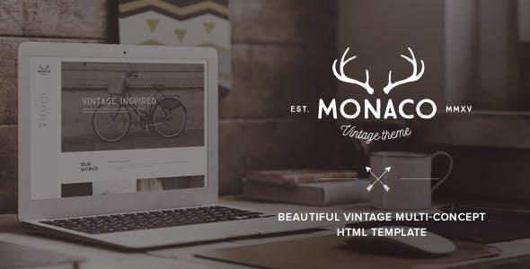 Monaco – Vintage Multi-Concept HTML Template