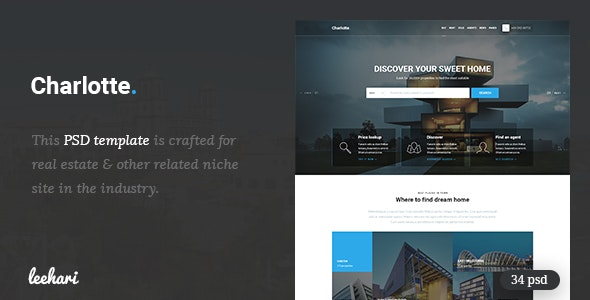 Charlotte - Real Estate PSD Template - Business Corporate