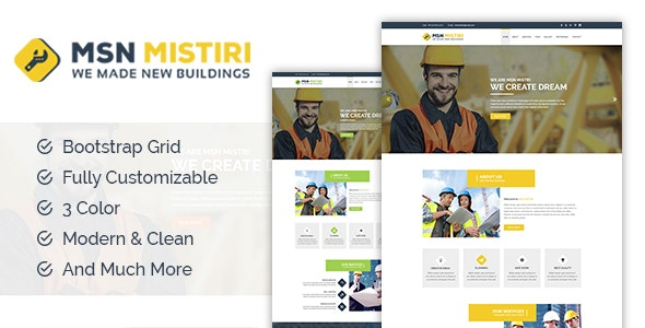 Msn Mistiri - Construction HTML5 Template - Business Corporate