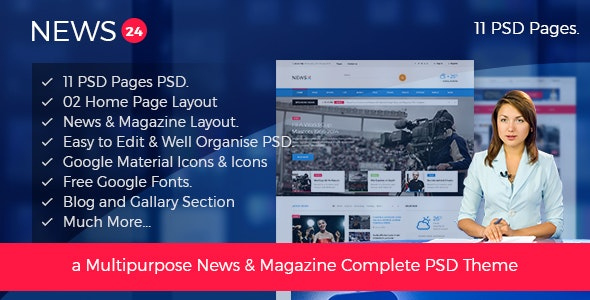 News 24 - Magazine PSD Template - Miscellaneous Photoshop