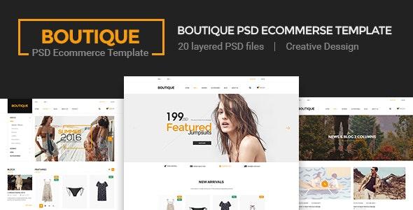 Boutique - Ecommerce PSD Template  - Retail Photoshop