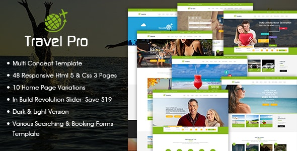 Travel Pro - Tours and Booking HTML Template - Travel Retail