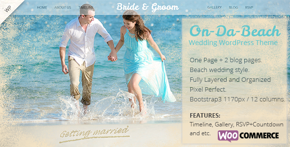 On Da Beach - Wedding WordPress Theme - Wedding WordPress