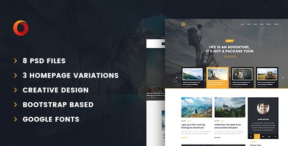 Dot – Personal Blog PSD Template - Personal Photoshop