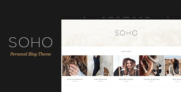 SOHO - Personal Blog PSD Template for Travelers and Dreamers - Personal Photoshop