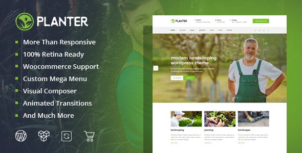 Planter - Landscaping Gardening & Lawn WordPress Theme